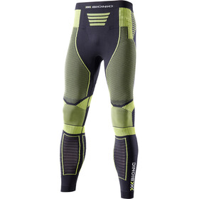 X-Bionic M's Effektor Power Running Pants Long Black/Yellow